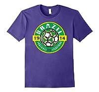 Football Is Everything - Brazil Vintage T-shirt Purple