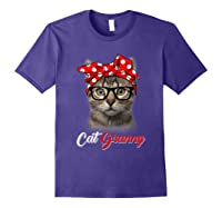 Funny Cat Granny Shirt For Cat Lovers-mothers Day Gift Purple