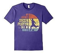 Vintage My Favorite Soccer Player Calls Me Mamaw Shirts Purple