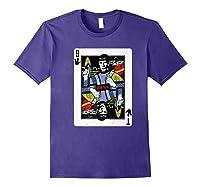 Star Trek Original Series Spock Playing Card Shirts Purple