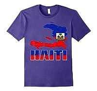 Vintage Haitian Flag I Love Haiti Shirts Purple