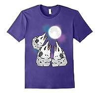 Three Opossum Moon S Shirts Purple