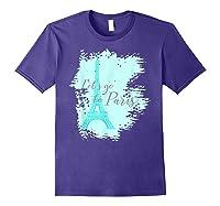 Let\\\'s Go To Paris Eiffel Tower France French Souvenir T-shirt Purple