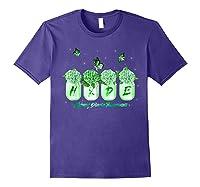 Hydrangea Flower Butterfly Ney Disease Awareness Shirts Purple