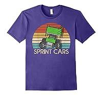 Vintage Sprint Cars T-shirt Purple