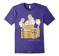 Pixar Bao Weekend Woodblock Feels Graphic Shirts Purple