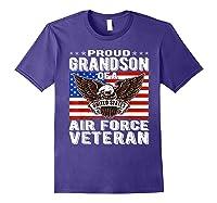 Proud Grandson Of Air Force Veteran Patriotic Military Gifts Shirts Purple