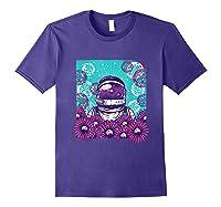 Astronaut Flowers Daisy Bubble Ocean Shirts Purple