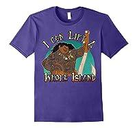 Moana Maui I Can Lift A Whole Island Graphic Shirts Purple