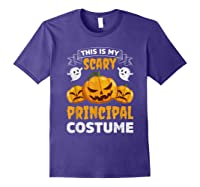 Principal Halloween This Is My Scary Principal Costume Shirts Purple