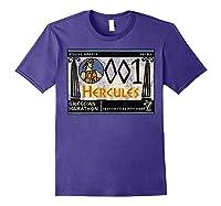 Disney Hercules Grecian Marathon Poster T-shirt Purple