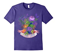 Plant Lady Shirt Gardening Gift Watercolor Flower Garden T-shirt Purple