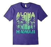 Aloha Hawaii Hawaiian Island Vintage 1980s Throwback Shirts Purple