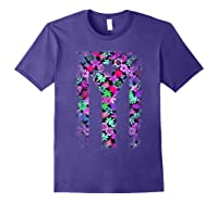 Floral Flower Boricua Taino Cool Gift Plum Puerto Rico Flag Shirts Purple