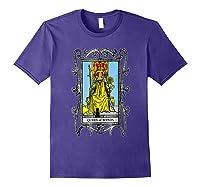 The Queen Of Wands Tarot T-shirt Purple