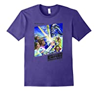 Star Wars The Empire Strikes Back The War Isn\\\'t Over Poster T-shirt Purple