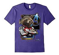 Marvel Avengers Endgame Rocket Logo Graphic T-shirt Purple