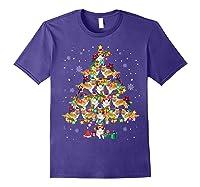 Shetland Sheepdog Christmas Tree Funny Sheltie Christmas T-shirt Purple