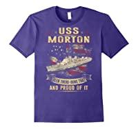 Uss Morton (dd-948) T-shirt Purple