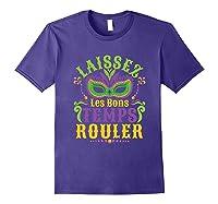 Laissez Les Bons Temps Rouler Mardi Gras Mask Shirts Purple