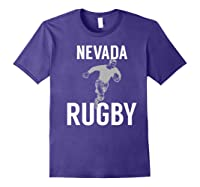 Nevada Rugby Player T-shirt Purple