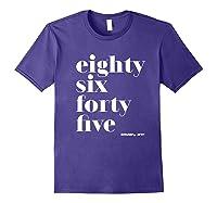 Anti Trump Eighty Six Forty Five 8645 Impeach T Shirt Purple