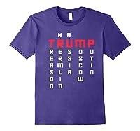 Impeach President Resist Russian Putin 2020 Anti Trump Premium T Shirt Purple