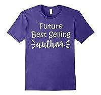 Author Essayist Journalist Scriptwriter T Shirt Purple