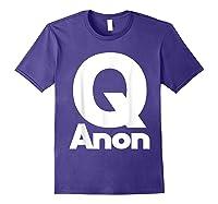 Qanon Tshirt Classic Q Shirt Wwg1wga Trump Rally T-shirt Purple