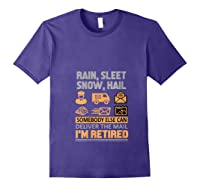 Postal Worker Retiret Gifts Funny Post Office Shirts Purple