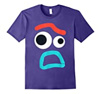 And Pixar Toy Story 4 Forky Timid Face Costume Shirts Purple