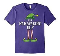 Paramedic Elf Matching Family Group Christmas Party Pajama Shirts Purple