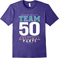 50th Birthday Funny Gift Team Age 50 Years Old T-shirt Purple