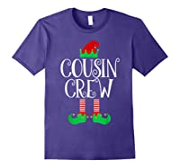 Cousin Crew Elf Gift Family Matching Christmas Ugly Shirts Purple