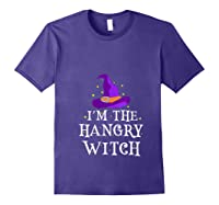 I'm The Hangry Witch Halloween Costume Funny Foodie Gift Shirts Purple