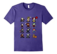 Friends Pixel Halloween Icons Scary Horror Movies Tank Top Shirts Purple