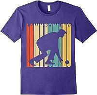 Vintage Style Lawn Bowling Silhouette T-shirt Purple