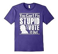 Sarcastic Impeach Resist President Vote Dems Anti Trump 2020 Premium T Shirt Purple