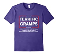 Donald Trump Fathers Day Gift For Gramps Funny Campaign Sign T Shirt Purple