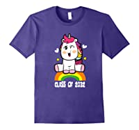 Unicorn First Day Of School Class Of 2032 Grow With Me Premium T-shirt Purple
