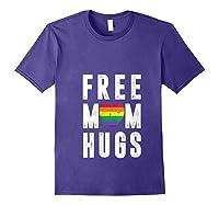 Lgbt X Pride - Cute Mother Distressed Lgbt Free Mom Hugs T-shirt Purple