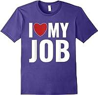 I Love My Job Entrepreneur Work T-shirt Purple