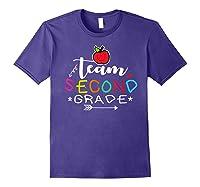 Team 2nd Second Grade Back To School Tea Gift Shirts Purple