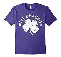 Shaced T Shirt Saint Patricks Day Gift Shirt Purple