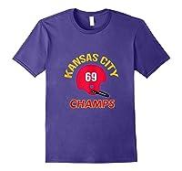 Retro Kansas City Football Helmet Vintage Kc 69 Champs Shirts Purple