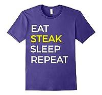 Beef Steak, Meat Bbq Gift Shirts Purple