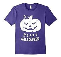 Funny Happy Halloween Costumes Scary Spooky Pumpkin Costume Shirts Purple