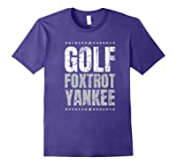Golf Foxtrot Yankee Military Rude Adult S Gift Shirts Purple