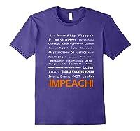 29 More Reasons To Impeach Potus Trump Political Activist Premium T Shirt Purple