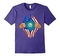 South Dakota Roots Inside State Flag American Proud Shirts Purple